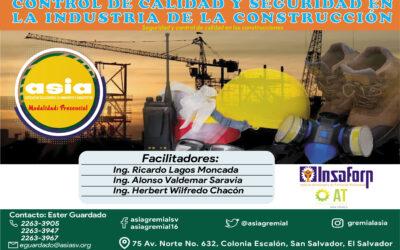 Control de calidad y seguridad en la industria de la construcción – Modalidad Presencial