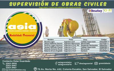 Supervisión de Obras Civiles – Modalidad Presencial