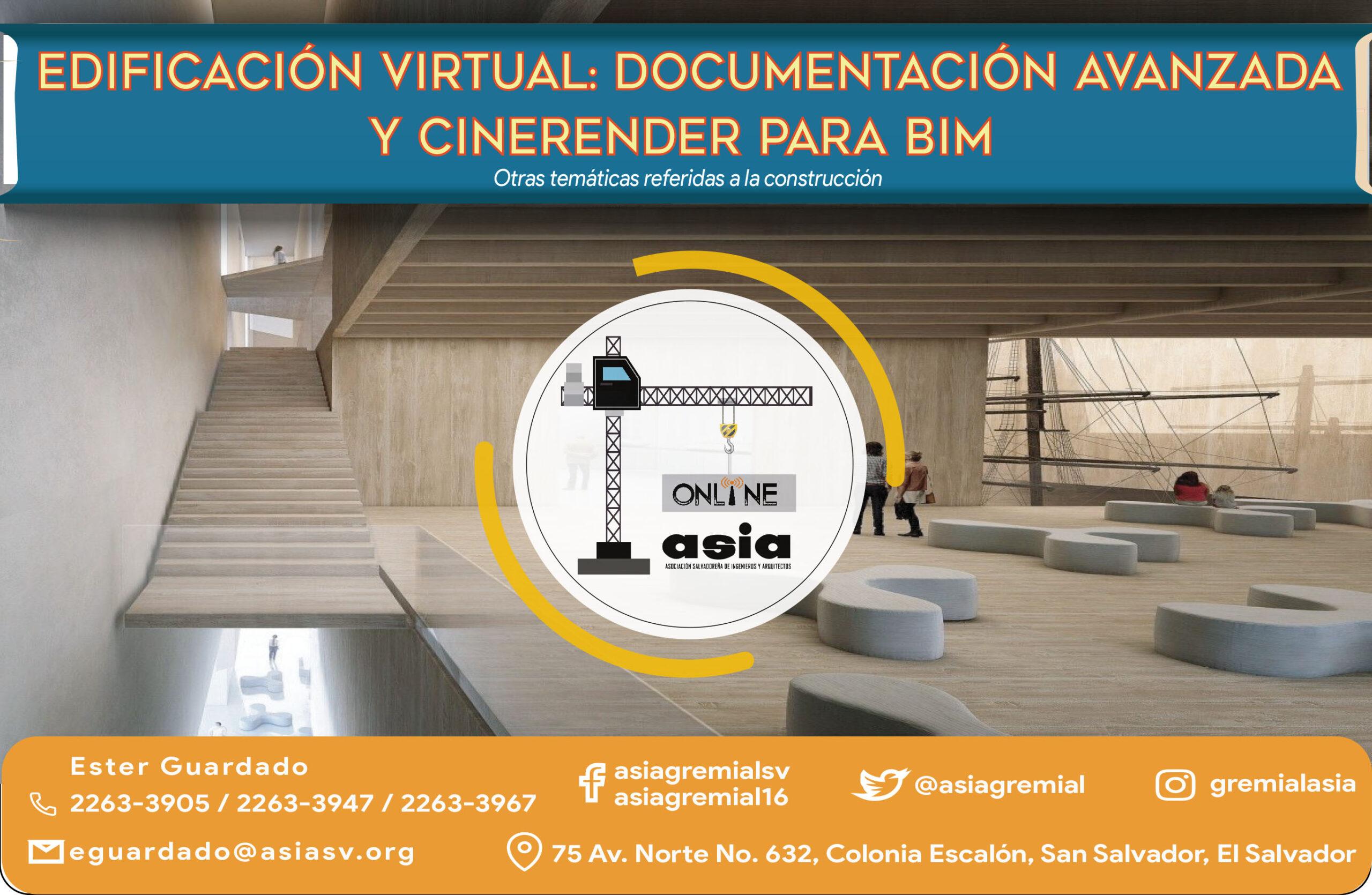 202103 Edificación virtual: Documentación y Cinerender para BIM