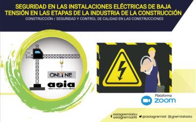 202106 Seguridad en las instalaciones eléctricas de baja tensión en las etapas de la industria de la construcción