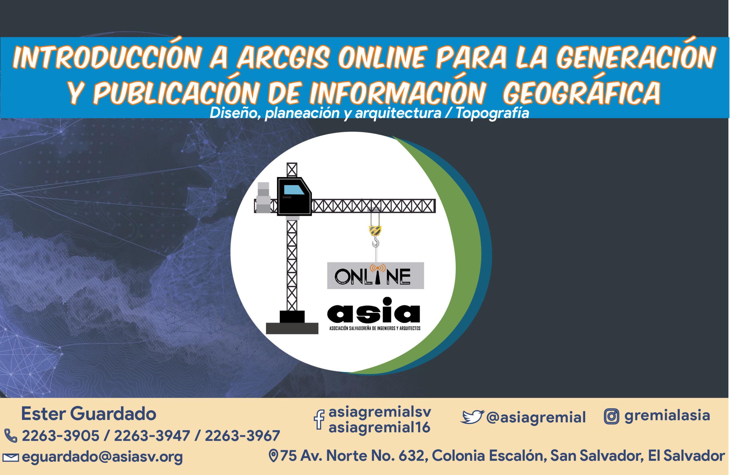202105 Introducción a ArcGIS Online para la generación y publicación de información geográfica